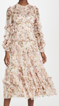 Needle & Thread Garland Flora Ruffle Ballerina Dress