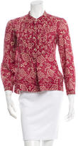 Etoile Isabel Marant Floral Print Button-Up Top