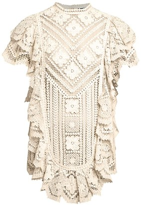 Isabel Marant Zanetti Seaside Ruffled Mini Dress