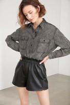J.ING Mara Black Denim Dress Shirt
