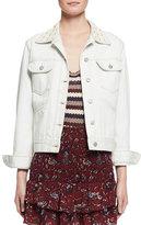 Isabel Marant Christa Cotton Denim Jacket, Chalk