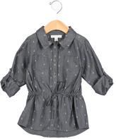 Marie Chantal Girls' Anchor Print Button-Up Top w/ Tags