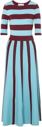 Gabriela Hearst Capote Striped Wool-blend Midi Dress