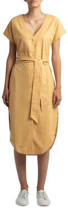 Nude Lucy Marley Linen Midi Dress