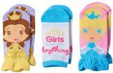 Disney Princess Cinderella & Belle Toddler Girl 6-pk. Cinched Low-Cut Socks