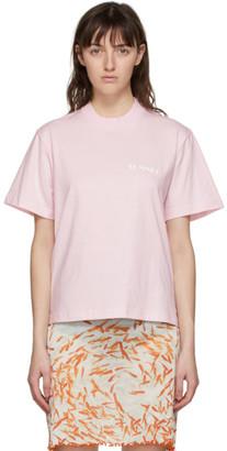 Sunnei Pink Logo T-Shirt