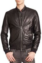 BLK DNM Leather Bomber Jacket