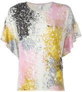 Diane von Furstenberg abstract print T-shirt - women - Silk/Spandex/Elastane/Modal - M