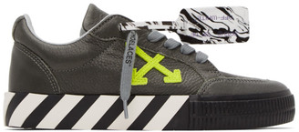 Off-White Grey Leather Vulcanized Low Sneakers
