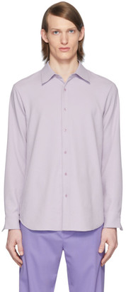 Tibi SSENSE Exclusive Purple Chalky Drape Shirt