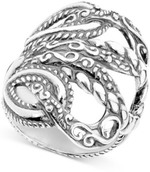 """Carolyn Pollack """"Lasting Connections"""" Openwork Statement Ring in Sterling Silver"""