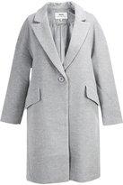MSSHE Women's Plus Size Long Sleeve Loose Crew neck Cardigan Wool Outerwear Coats