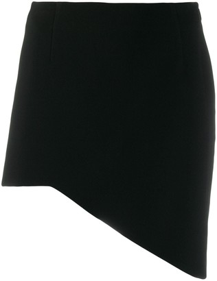 Saint Laurent asymmetric mini skirt