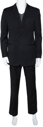 Armani Collezioni Black Wool Tailored Suit L