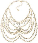 ABS by Allen Schwartz Gold-Tone Imitation Pearl Bib Necklace