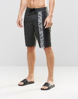 Asos Boardie Swim Shorts With Vertical Stripe