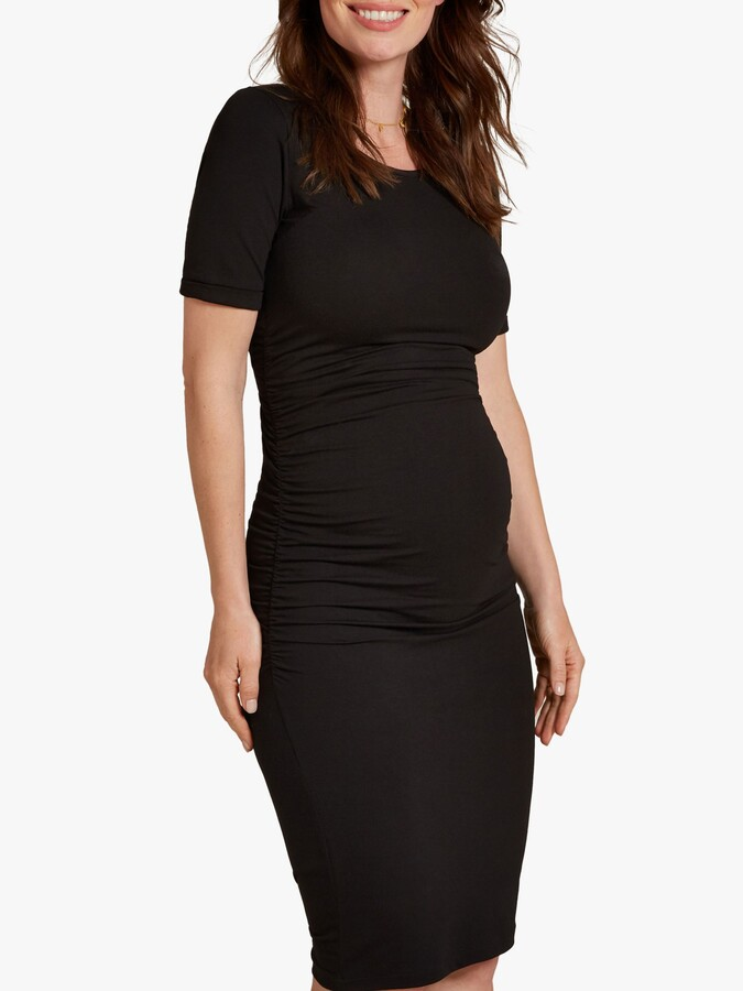 Thumbnail for your product : Isabella Oliver Ruched T-Shirt Dress, Black