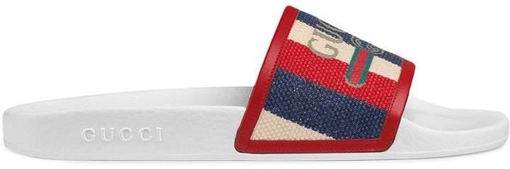 Gucci logo Sylvie slide sandal