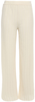 M Missoni Ribbed-knit Wide-leg Pants