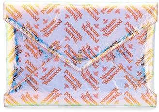 Vivienne Westwood Logo Envelope Clutch Bag