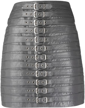 Manokhi Buckle-Fastening High-Waisted Skirt