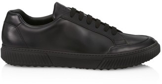 Prada Spazzolato Rois Leather Sneakers