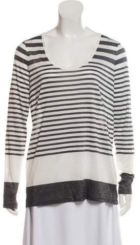 Vince Long Sleeve Scoop Neck Top w/ Tags