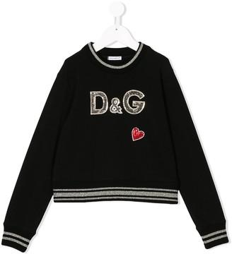 Dolce & Gabbana Sequin Logo Sweatshirt