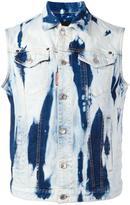 DSQUARED2 heavily bleached denim vest - men - Cotton/Spandex/Elastane - 48