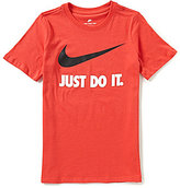 Nike Big Boys 8-20 Just Do It Swoosh Short-Sleeve Tee