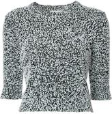 Carven cropped sleeves jumper - women - Acrylic/Cotton/Nylon - L