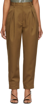 Tibi Tan Recycled Techy Pleated Trousers