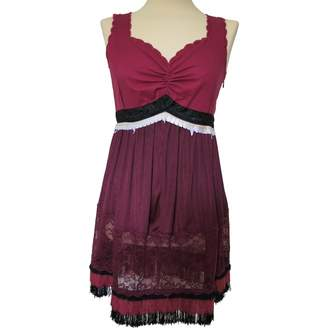 Undercover Burgundy Cotton Dresses