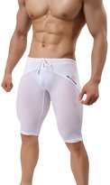 MECH-ENG Workout Fitness Tights Bodybuilding Swim Trunks Mesh Underwear Shorts Small