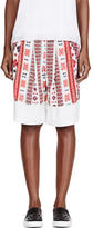 Altuzarra Red Crepe De Chine Romanian Poet Printed Shorts