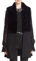 St. John Women's Cashmere Blend & Genuine Rex Rabbit Fur Vest