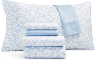 Sunham Norvara 500 Thread Count Sateen 6-Pc. Queen Sheet Set Bedding
