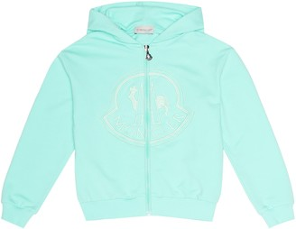 Moncler Enfant Embroidered cotton hoodie
