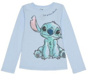 Disney Little Girls Stitch Out Of This World Long Sleeve Tee