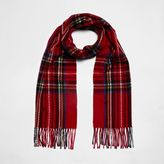 River Island Womens Red plaid check scarf