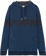 Ivy Park Printed Cotton-blend Jersey Hooded Top - Navy