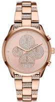 Michael Kors Slater Rose-Golden Crystal Chronograph Watch