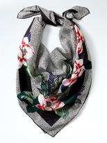 Banana Republic Floral Silk Medium Square Scarf