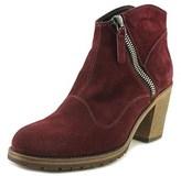 Belstaff Radcot Women Round Toe Suede Burgundy Ankle Boot.