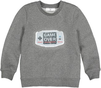 Cotton Mix Sweatshirt with Magic Sequins, 5-12 Years