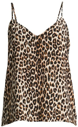 Equipment Layla Leopard-Print Camisole Top