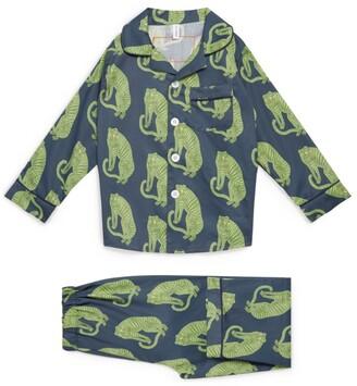 Desmond & Dempsey Tiger Pyjama Set