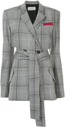 Hellessy Cut-Out Plaid Check Blazer