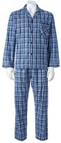 Hanes Big & Tall Classics Plaid Pajama Set