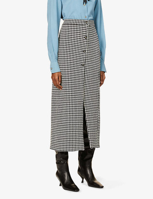 Giuliva Heritage Collection Sadie houndstooth wool midi skirt